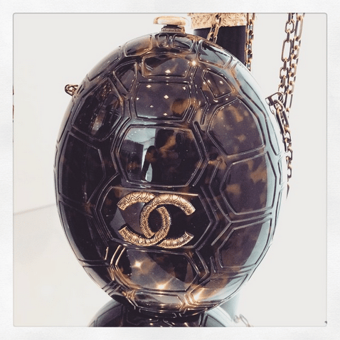 Chanel Tortoise Plexiglass Turtle Clutch Bag - Cruise 2016