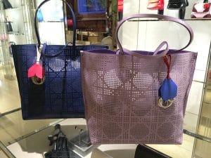 Dior Blue/Powder Pink Dioriva Shopping Bags