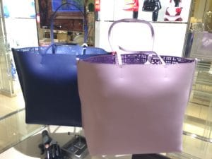 Dior Blue/Powder Pink Dioriva Shopping Bags - Back Side