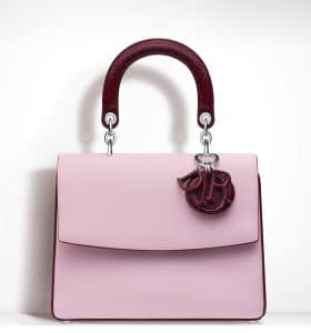 Dior Plum/Pale Pink Be Dior Small Flap Bag