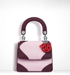 Dior Plum/Pale Pink/Bright Red Be Dior Micro Flap Bag