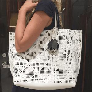 Dior White Dioriva Shopping Bag 1
