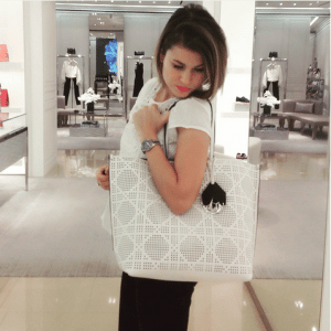 Dior White Dioriva Shopping Bag 2