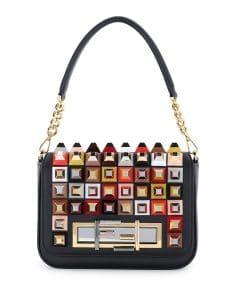 Fendi Black Studded Baguette Bag