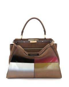 Fendi Multicolor Gradient Calf Peekaboo Medium Bag