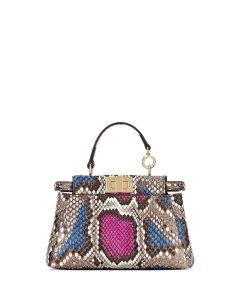 Fendi Multicolor Python Peekaboo Micro Bag