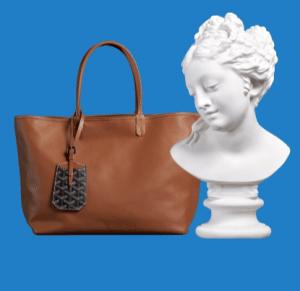 Goyard Black/Tan Anjou Reversible Tote Bag 2