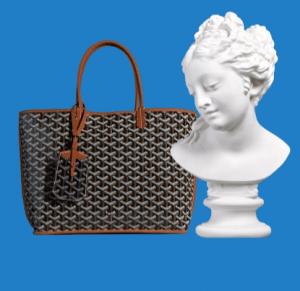Goyard Black/Tan Anjou Reversible Tote Bag