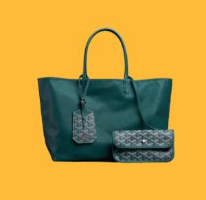 Goyard Green Anjou Reversible Tote Bag 2