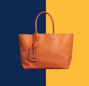 Goyard Orange Anjou Reversible Tote Bag