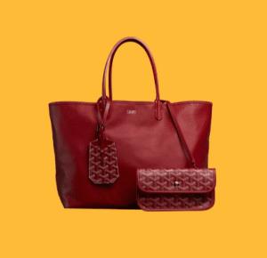 Goyard Red Anjou Reversible Tote Bag