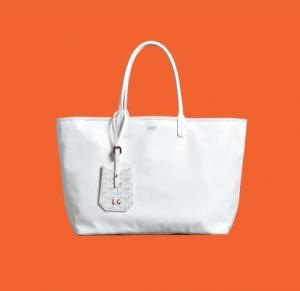 Goyard White Anjou Reversible Tote Bag