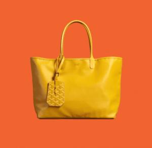 Goyard Yellow Anjou Reversible Tote Bag