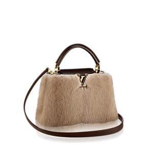 Louis Vuitton Beige Vison Capucines BB Bag