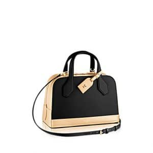 Louis Vuitton Black/Gold Dora PM Bicolor Bag