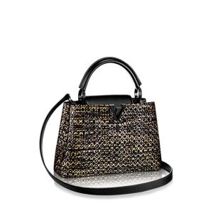 Louis Vuitton Black/Gold/Silver Capucines BB Bag 2