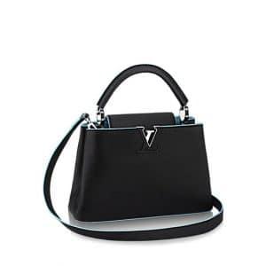 Louis Vuitton Black/Light Blue Capucines BB Bag