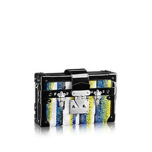 Louis Vuitton Black/White/Blue/Yellow Petite Malle Sequins Bag