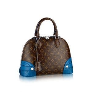 Louis Vuitton Bleu Royal Alma Monogram Shine PM Bag