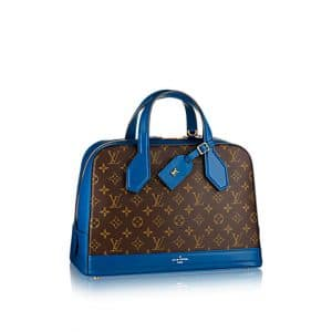 Louis Vuitton Bleu Royal Monogram Canvas Dora MM Bag