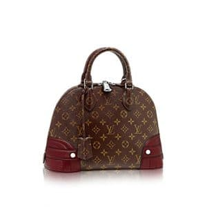 Louis Vuitton Bordeaux Alma Monogram Shine PM Bag