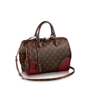 Louis Vuitton Bordeaux Monogram Canvas Doc PM Bag