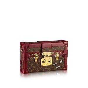 Louis Vuitton Bordeaux Petite Malle Monogram Bag