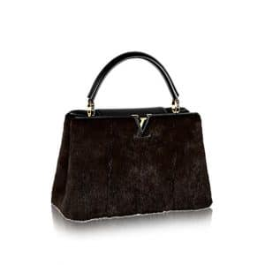 Louis Vuitton Brown Vison Capucines MM Bag
