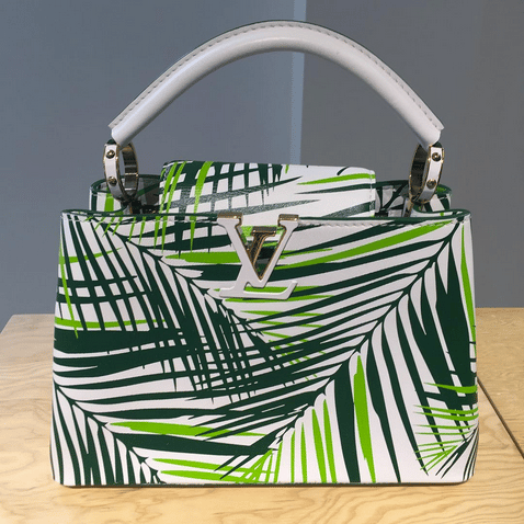 Louis Vuitton Capucines with Palm Leaves - Cruise 2016