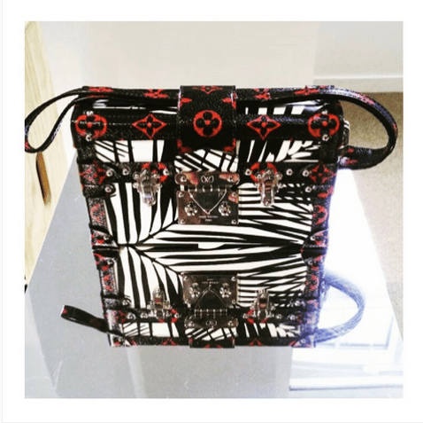 Louis Vuitton Red Monogram Petite-Mall with Palm Leaves