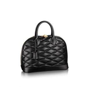 Louis Vuitton Noir Alma Malletage PM Bag