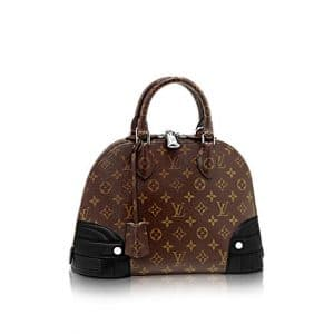 Louis Vuitton Noir Alma Monogram Shine PM Bag