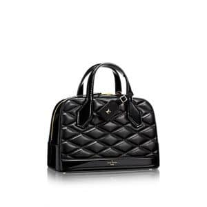 Louis Vuitton Noir Dora PM Malletage Bag