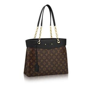 Louis Vuitton Noir Pallas Shopper Bag