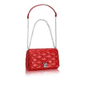 Louis Vuitton Red Go-14 Malletage MM Bag