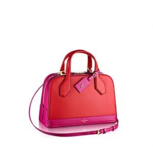 Louis Vuitton Red/Fuchsia Dora PM Bicolor Bag