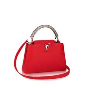 Louis Vuitton Rubis with Python Ayers Handles Capucines BB Bag
