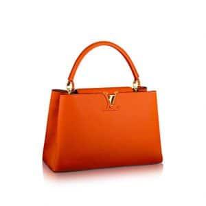 Louis Vuitton Tangerine Capucines MM Bag