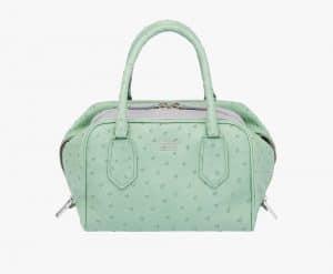 Prada Aquamarine/Granite Ostrich Inside Small Bag