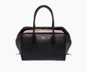 Prada Black/Light Pink Inside Large Bag