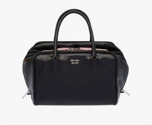 Prada Black/Light Pink Inside Medium Bag
