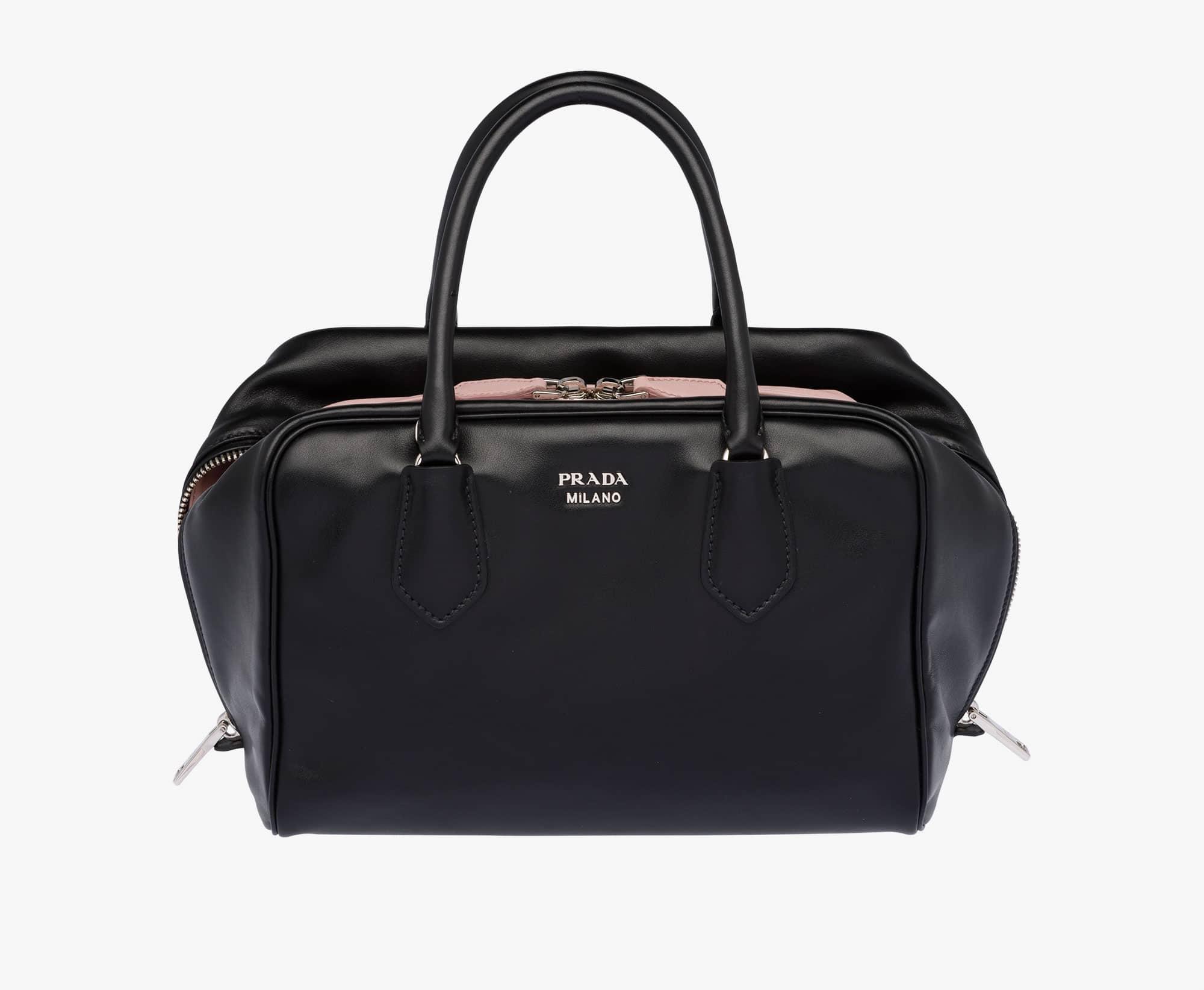 prada black canvas bag - Prada Inside Tote Bag Reference Guide   Spotted Fashion