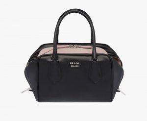 Prada Black/Light Pink Inside Small Bag