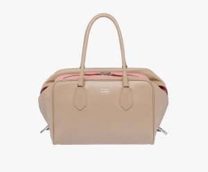 Prada Cameo/Pink Inside Large Bag