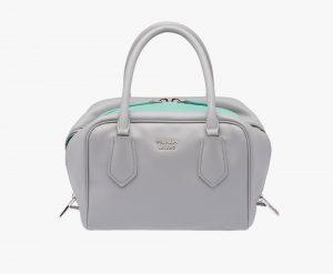 Prada Granite Gray/Aquamarine Inside Small Bag