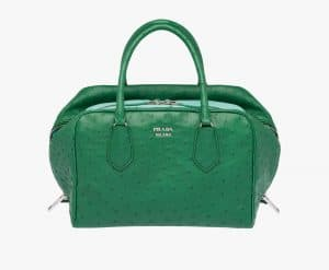 Prada Green/Aquamarine Ostrich Inside Medium Bag