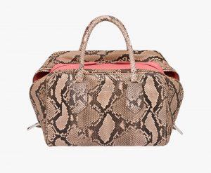 Prada Peach/Tamaris Python Inside Medium Bag