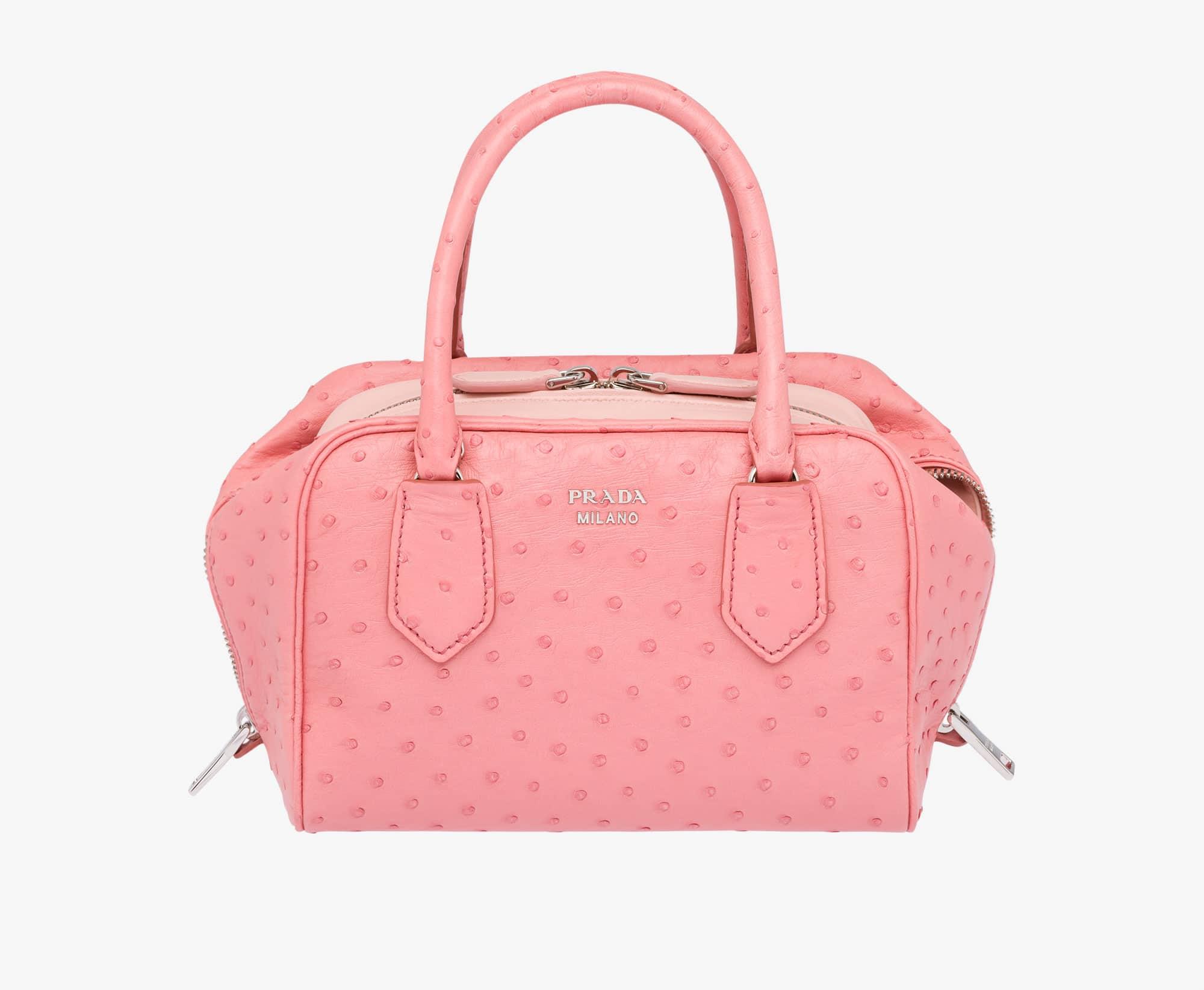 Prada Tamaris Peach Ostrich Inside Small Bag 6beb5303adedf