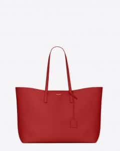 Saint Laurent Red Shopping Tote Large Bag