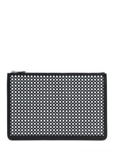 Givenchy Black/White Studded Large Pouch Bag
